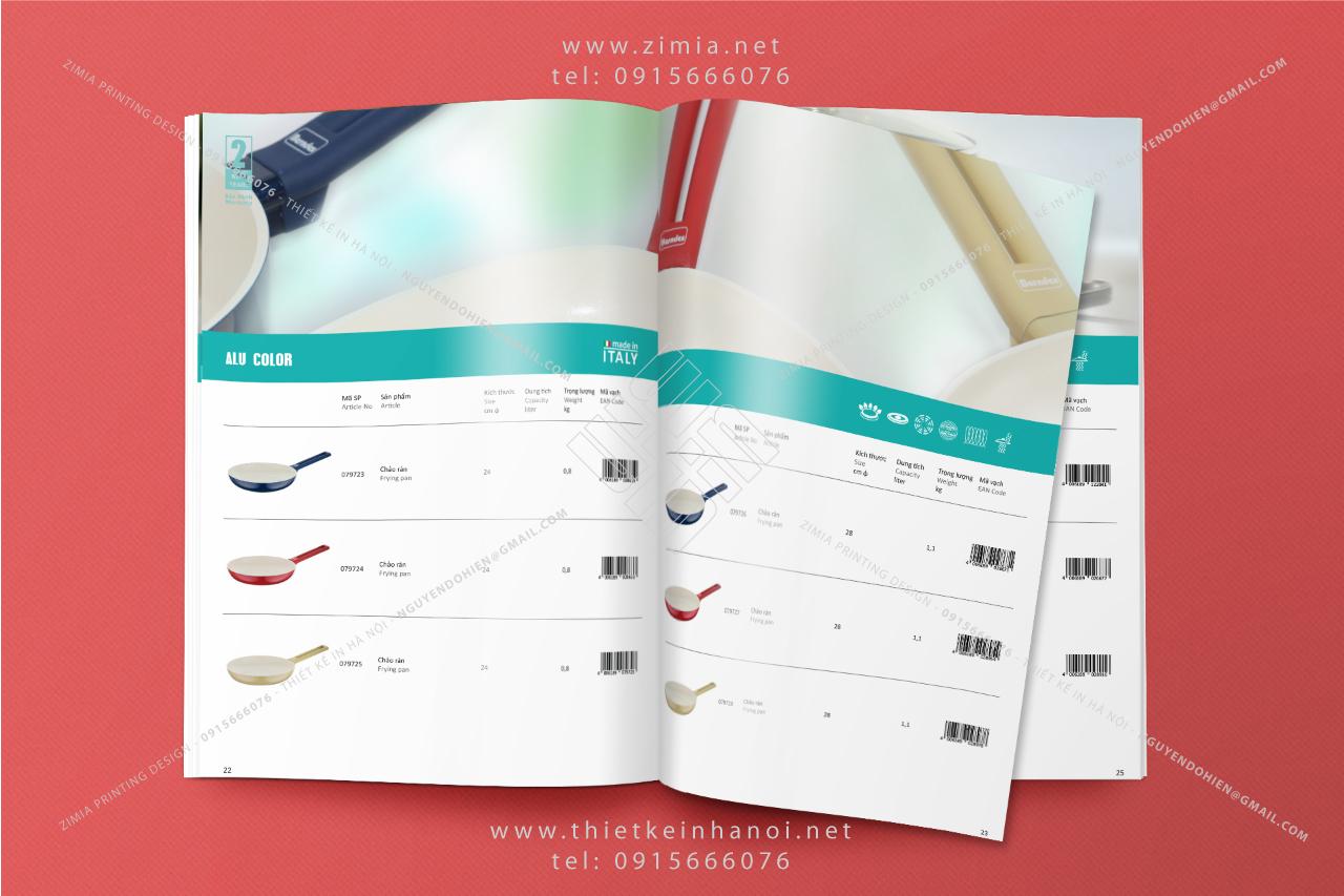 Mẫu thiết kế in catalog sản phẩm dân dụng tiêu dùng