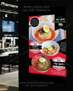 Thiết kế menu thực đơn