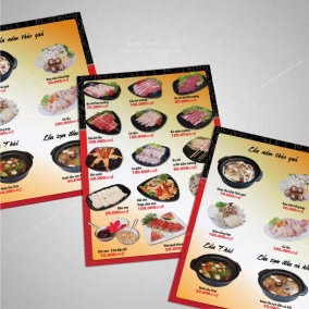 Dịch vụ thiết kế menu thực đơn tại Hà nội